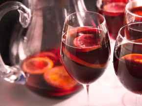 Glass of Cool Sangria