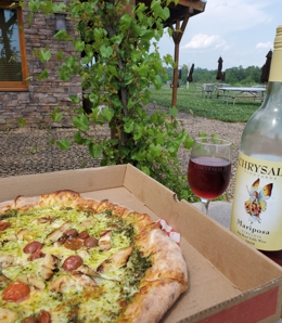 Pizza & Wine. Perfect!