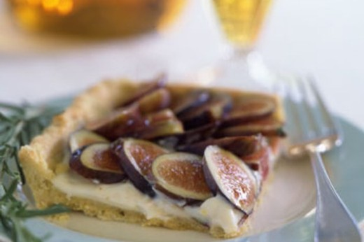 Fresh Fig Tart with Rosemary Cornmeal Crust and Lemon Mascarpone Cream - 2018 Sarah's Patio White