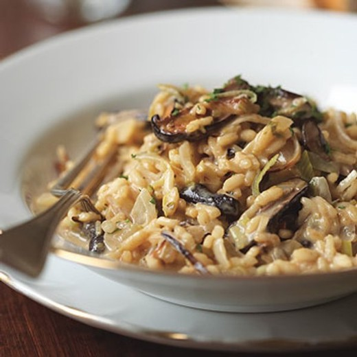 Risotto with Leeks, Shiitake Mushrooms, and Truffles - 2017 Private Reserve Red