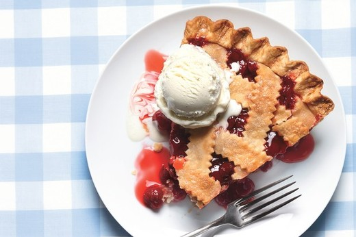 Classic Sour Cherry Pie with Lattice Crust - 2016 Borboleta
