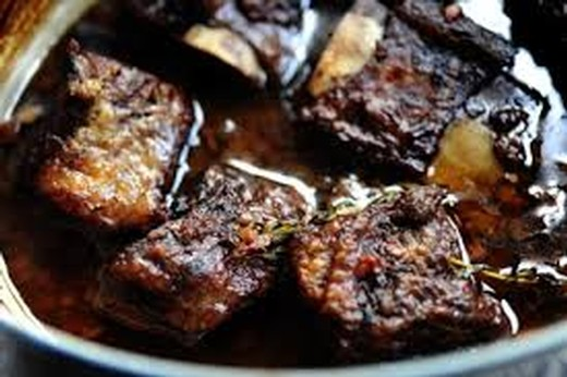 Red Wine Braised Short Ribs - 2013 Tannat