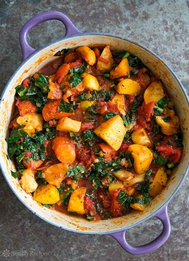 Roasted Root Vegetables with Tomatoes and Kale - 2014 Norton Estate Bottled