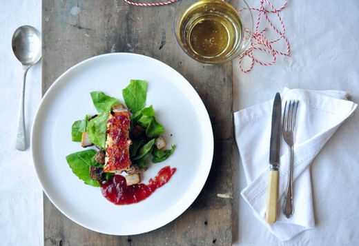 Cranberry and Apple Cider Pork Belly - 2014 Tannat