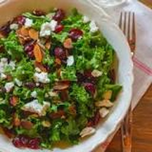 Kale, Cranberry and Almond Salad with Goat Cheese - 2015 Private Reserve Red