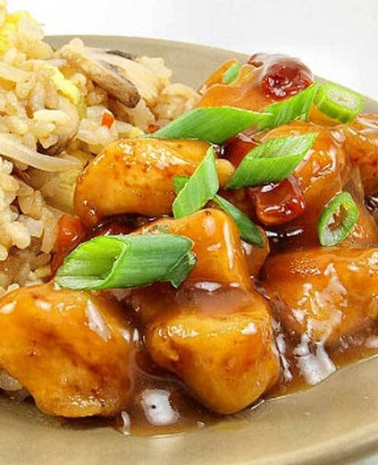 Orange Chicken with Fried Rice - 2016 Sarah's Patio White